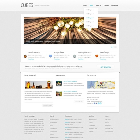 Template Image for Cubes - WordPress Template