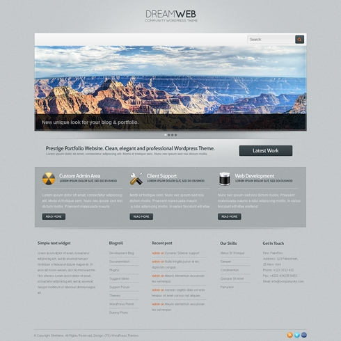 Template Image for DreamWeb - WordPress Template