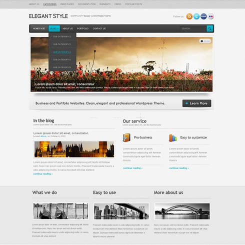Template Image for ElegantStyle - WordPress Template