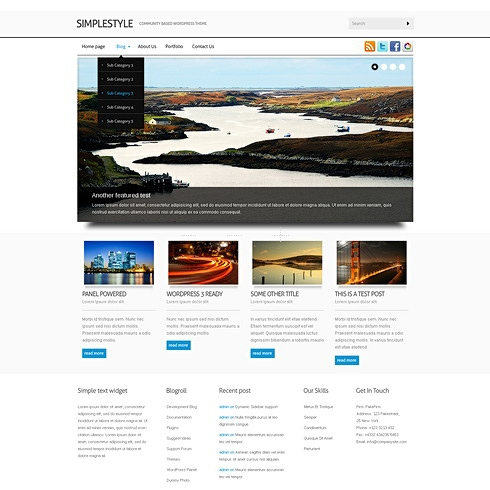Template Image for ClassynSimple - WordPress Theme