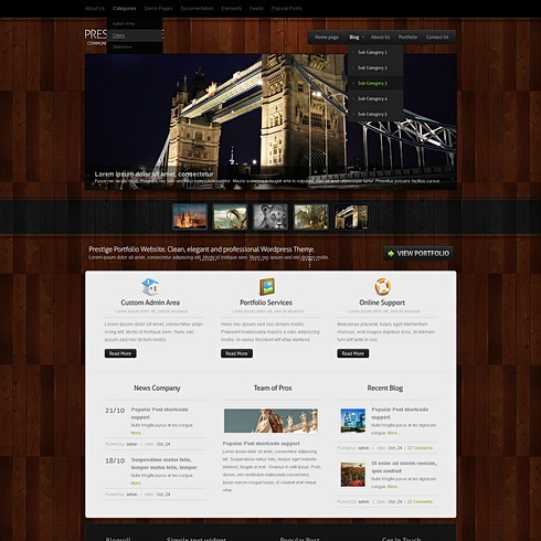 Template Image for HardWood - WordPress Theme