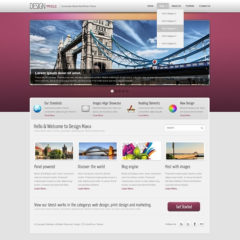 Template Image for DesignMaxx - WordPress Template