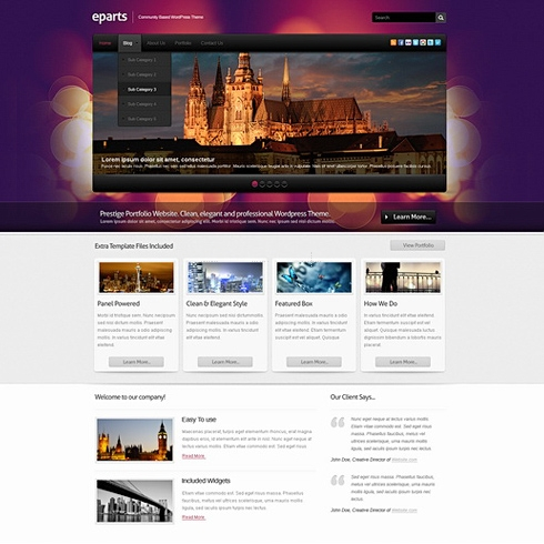 Template Image for Eparts - WordPress Theme