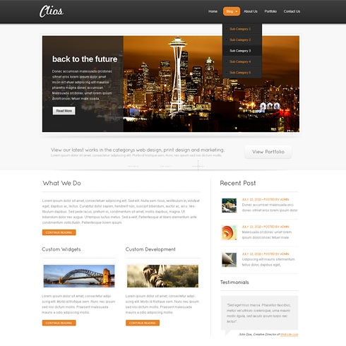 Template Image for Clios - WordPress Template