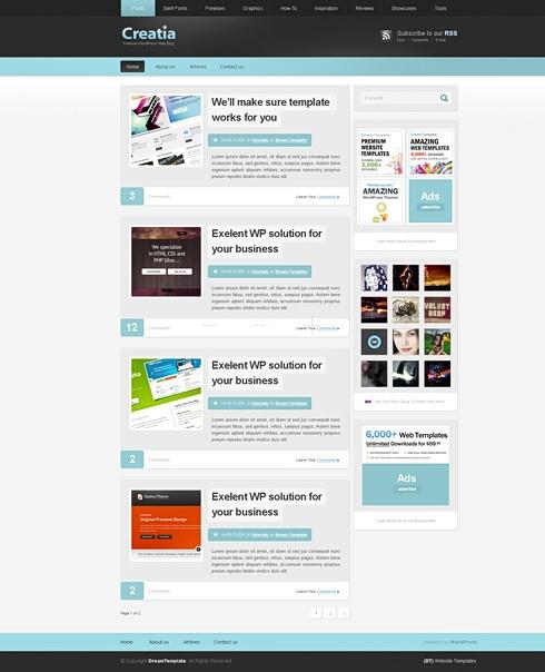 Template Image for Creatia - Website Template