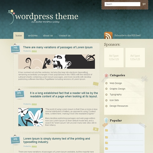 Template Image for ClassicVibes - WordPress Theme