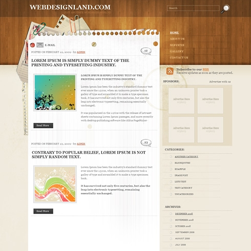 Template Image for HotDesk - WordPress Theme
