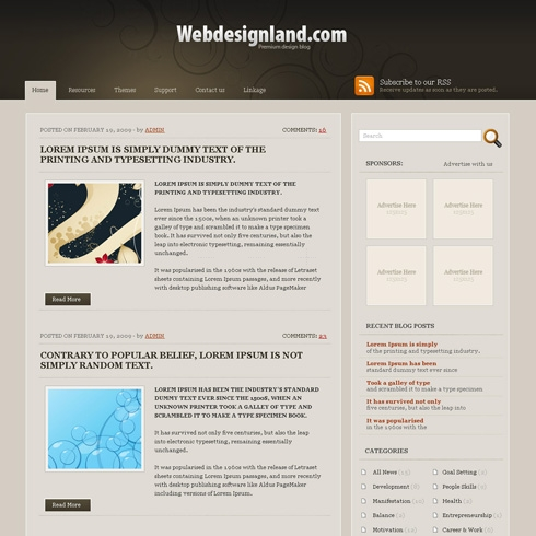 Template Image for ClassicTone - WordPress Theme