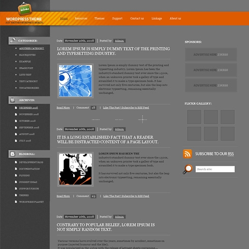 Template Image for CalTone - WordPress Theme