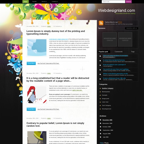 Template Image for BrightDay - WordPress Theme