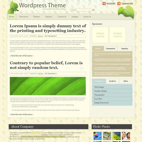 Template Image for GrannyFlat - WordPress Theme
