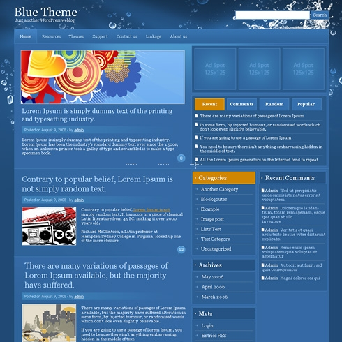 Template Image for BlueSplash - WordPress Theme