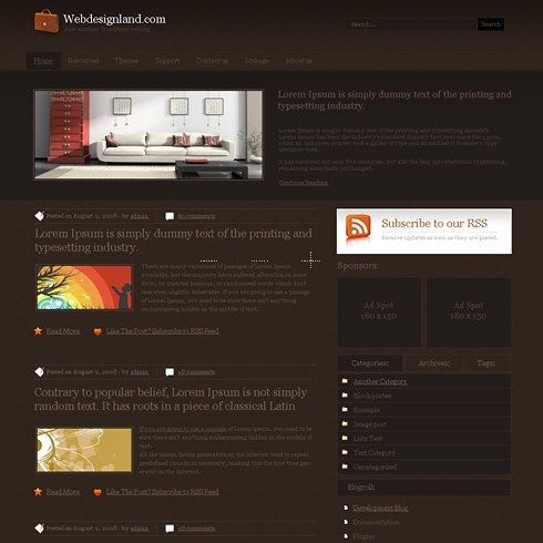 Template Image for Bigoak - WordPress Theme