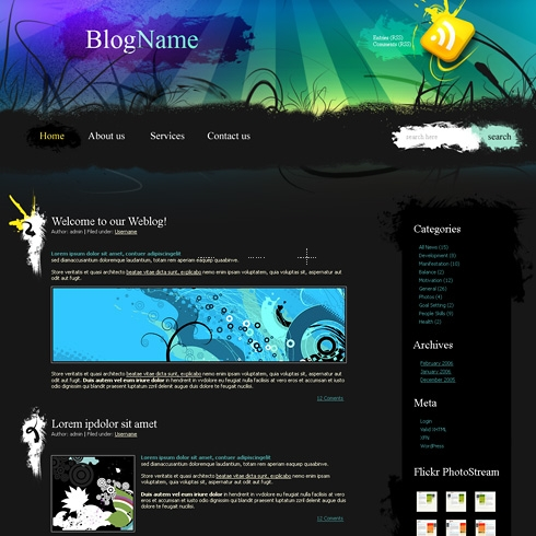 Template Image for Auroragrunge - WordPress Theme