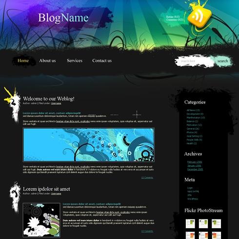 Template Image for Auroragrunge - WordPress Theme