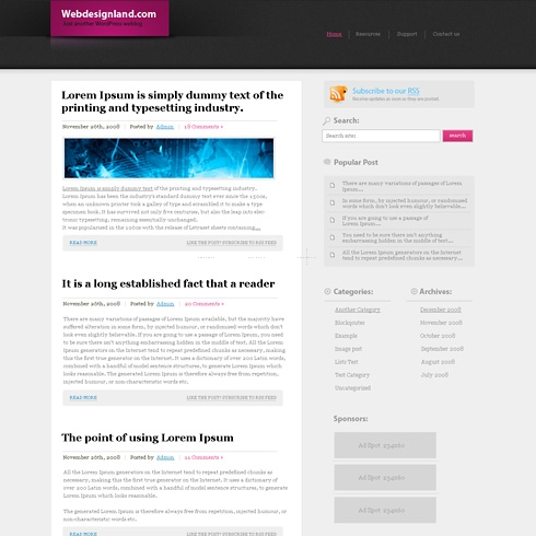 Template Image for Advanced - WordPress Theme