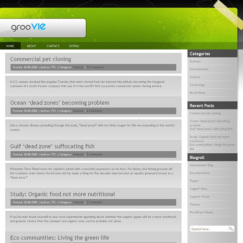 Template Image for Groovie - WordPress Theme