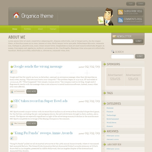 Template Image for Organica - WordPress Theme