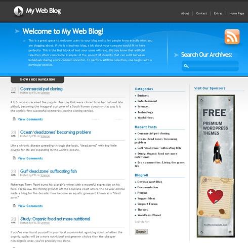 Template Image for BlueSlide - WordPress Theme