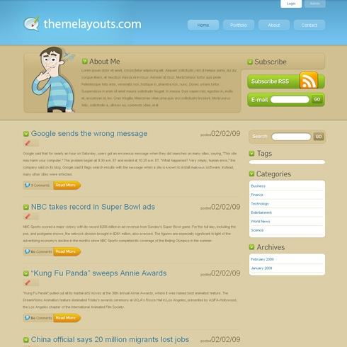 Template Image for aBlogTheme - WordPress Theme