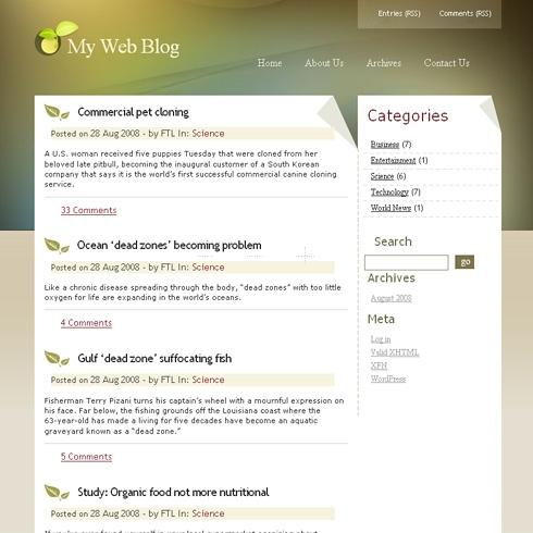 Template Image for WarmAutumn - WordPress Theme