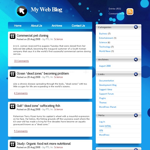 Template Image for SpaceSphere - WordPress Theme