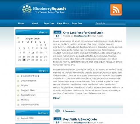 Template Image for BlueBerrysQuash - WordPress Template