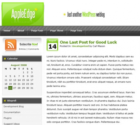 Template Image for AppleEdge - WordPress Theme