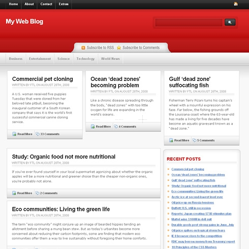 Template Image for ReddTheme - WordPress Theme