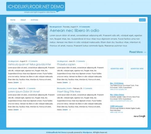 Template Image for BluenGray - WordPress Theme