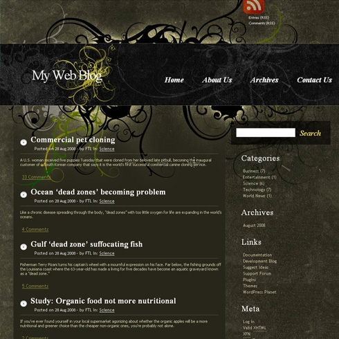 Template Image for MysticGrunge - WordPress Theme