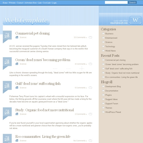 Template Image for MildCotton - WordPress Theme
