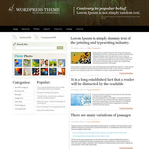 Template Image for WoodenPrints - WordPress Theme