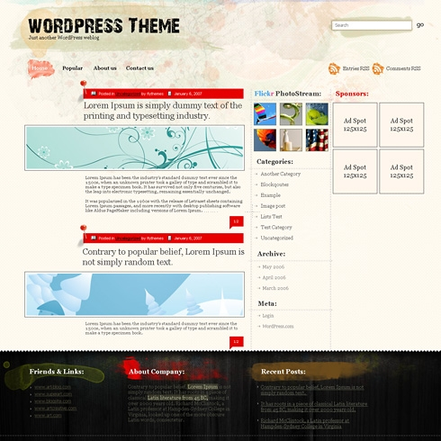 Template Image for WallpaperFlowers - WordPress Theme