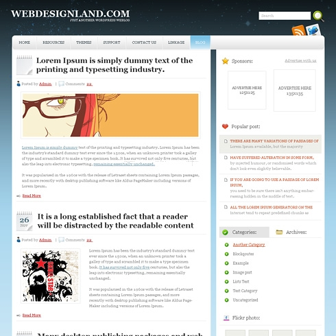 Template Image for VectorFields - WordPress Theme