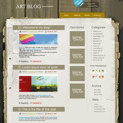 Template Image for WoodenPoster - WordPress Theme