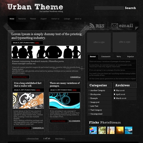Template Image for UrbanAlley - WordPress Theme