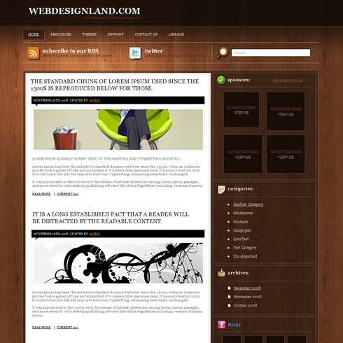 Template Image for TimberDesk - WordPress Template