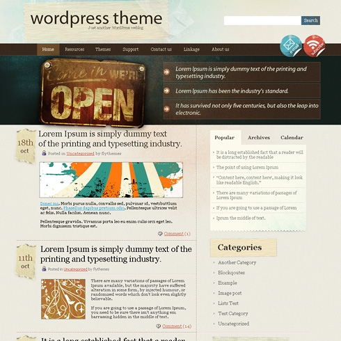 Template Image for RustyTape - WordPress Theme