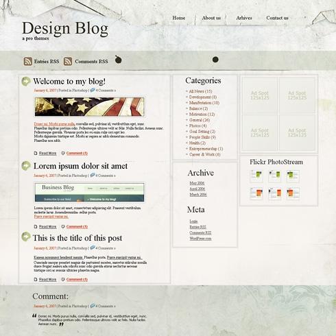 Template Image for RomanPaper - WordPress Theme
