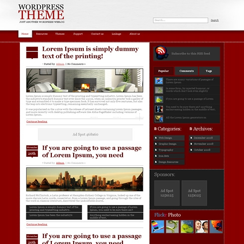 Template Image for RedCotton - WordPress Theme