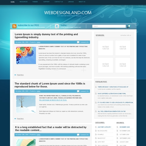 Template Image for EnergySource - WordPress Theme
