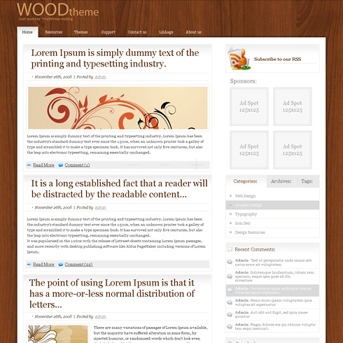 Template Image for PureWood - WordPress Theme