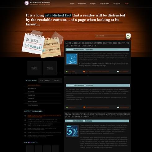 Template Image for DeskBoard - WordPress Theme