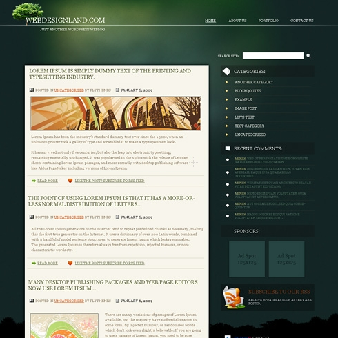 Template Image for DeepForest - WordPress Theme