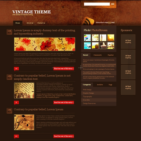 Template Image for DarkAges - WordPress Theme
