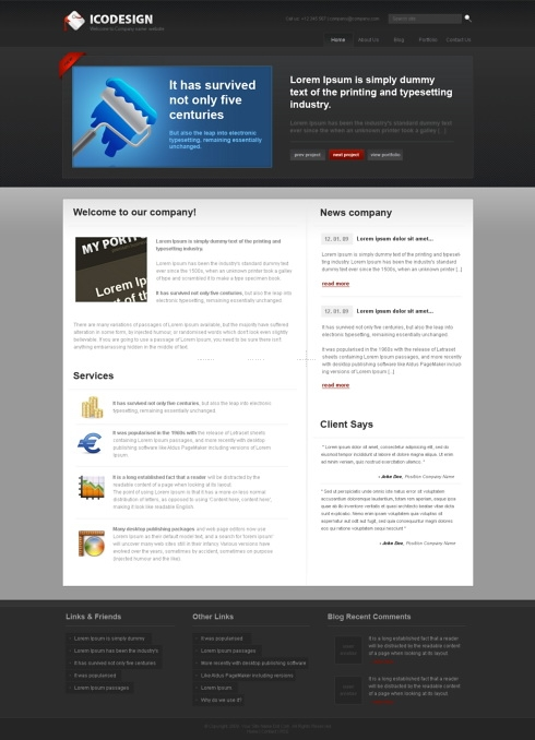 Template Image for DarkStudio - HTML Template