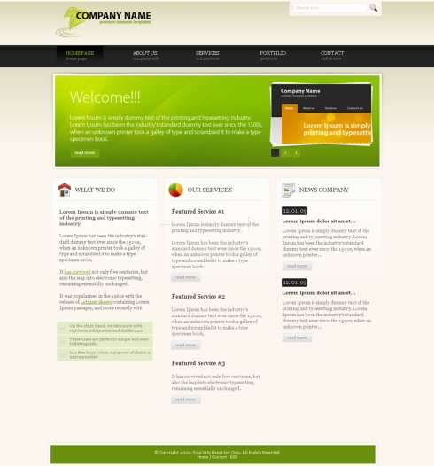 Template Image for EcoForest - Website Template
