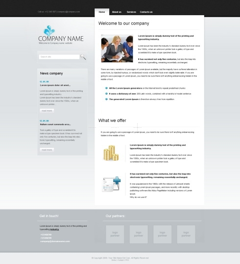 Template Image for ModernTab -  CSS Template