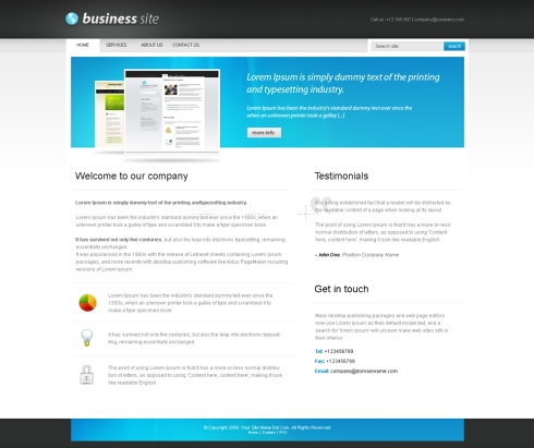 Template Image for BusinessPro - CSS Template